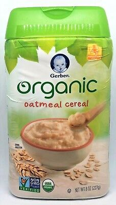 Gerber Organic Oatmeal Cereal for Baby 8 oz