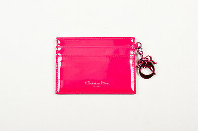 "Christian Dior NIB Hot Pink Cannage Quilted ""Lady Dior"" Card Holder"