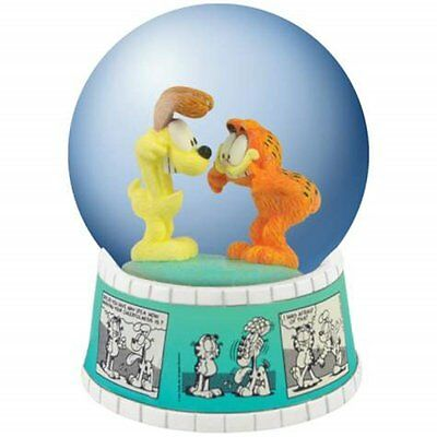 Garfield and Odie Water Globe Figurine with Comic Strip Base by Westland Gifts