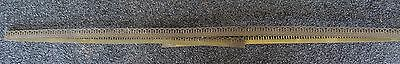 "Vintage Decorative Pierced Brass Table Banding Trim 65"" X 3/4"" High"