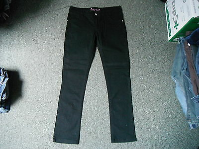 "Cherokee Slim Jeans Waist 26.5"" Leg 29.5"" Black Faded Girls 13/14 Yrs Jeans"