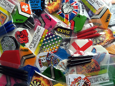 DART FLIGHTS and DART STEMS SHAFTS 20 sets in total plus a FREE GIFT! Mojo DARTS