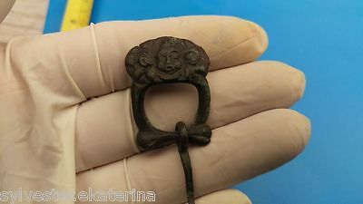 Post-Medieval Bronze Buckle with Head