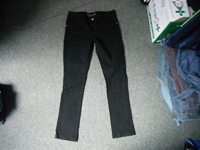 "Cherokee Slim Jeans Waist 26.5"" Leg 29"" Black Faded Girls 13/14 Yrs Jeans"