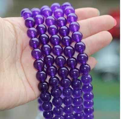 new 10mm,8mm,6mm Natural Russican Amethyst Gemstones Round Loose Beads 15''