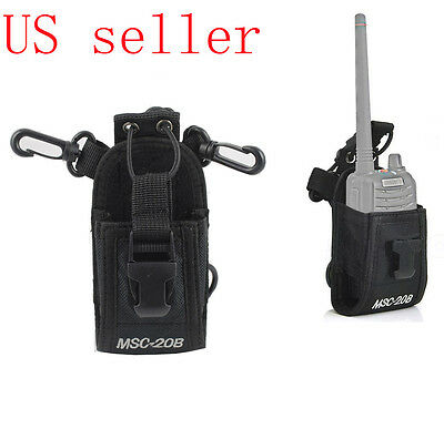 Walkie Talkie Radio Case Pouch Holster Belt For Motorola Kenwood Midland Baofeng