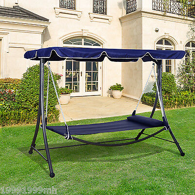 Outsunny Patio Swing Hammock Outdoor Hanging Sleeping Bed Daybed Canopy w/Pillow