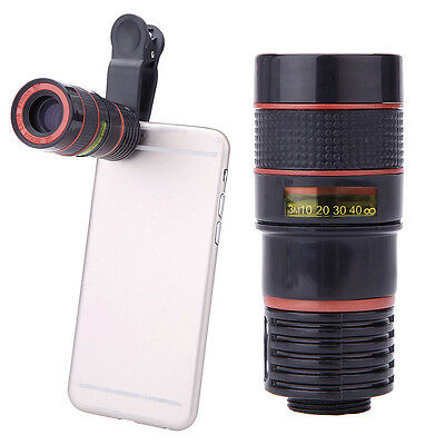 8x Zoom Optical Lens Telescope  Universal For Camera Mobile Cell Phone iPhone