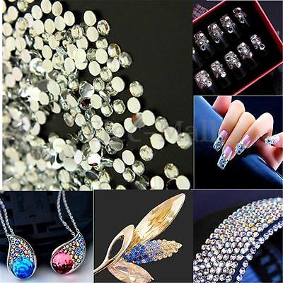 1000pcs Autocollant Sticker Verre Cristal Diamant Strass Scrapbooking DIY
