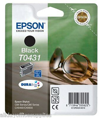 Epson T0431 Black High Capacity Original Ink Cartridge No box, AIR TIGHT SEALED
