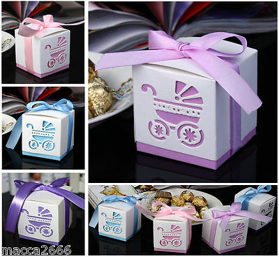 1,5,10 Pink/Blue Baby Shower Party Favours Candy Gift Boxes Boy Girl Gift *NEW*
