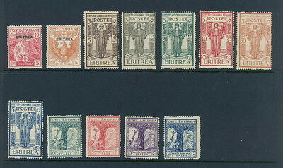 Eritrea B1, B3, B11 to B16 (no B14) & B21 to B24 mh/mlh semi-postal stamps