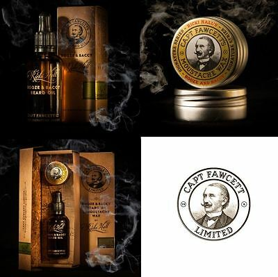 Captain Fawcett Ricki Hall Booze & Baccy Moustache Wax or Beard Oil