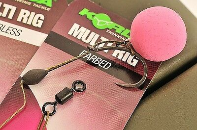 Korda NEW Multi Rig Ready Pre Tied Carp Fishing Rigs x5 *All Sizes & Types*