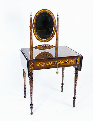 Dutch Marquetry Mahogany Dressing Table