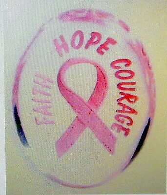 Faith Hope Courage Pocket Worry Stone Breast Cancer NIP Religious Find the Cure