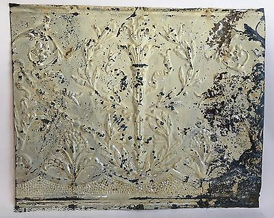 "Antique Tin Ceiling Tile Green 18"" x 22.5"" See our salvage Videos Torch B65a"