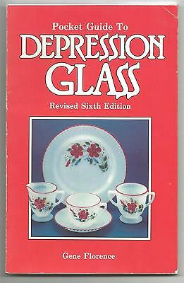 Pocket Guide To Depression Glass 1989 Sixth Edition Gene Florence SC
