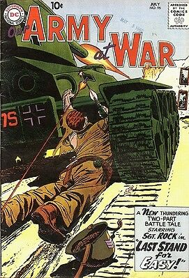 Our Army at War # 96 JOE KUBERT COVER RUSS HEATH ART WHITE PAGES VG+ 1960