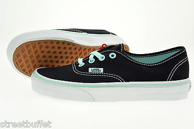 Vans Authentic Sneaker Skate Schuhe Black / Blue Tint