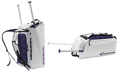2017 Easton Stealth Hybrid Backpack/Duffle Bag White/Purple Baseball/Softball