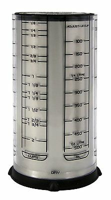 Fox Run KitchenArt Pro 2 Cup Adjust-A-Cup Dry Liquid Measuring Standard & Metric