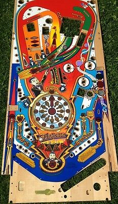Funhouse pinball machine NEW playfield