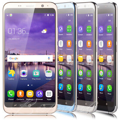 6.0' Large Screen Android Mobile Phones Unlocked Quad Core 2 SIM 3G Smartphone