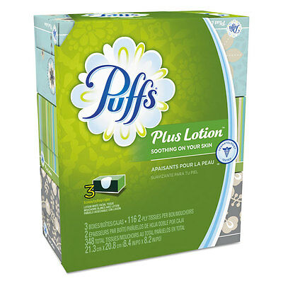 Plus Lotion Facial Tissue, White, 2-Ply, 116/Box