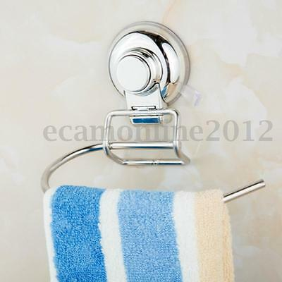 Stainless Bathroom Toilet Paper Roll Tissue Holder Hook Rack Suction Cup Durable