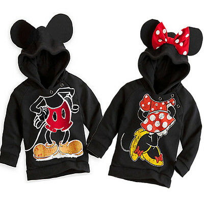 Kids Baby Boy Girls Clothing Mickey Minnie Mouse Tops Shirt Hoodies Sweater 1-6Y