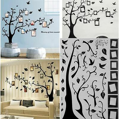 Removible Pegatina De Pared Árbol Marco Fotos Vinilo Decorativo Hogar Decoración
