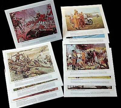 9 Different National Guard Heritage Prints from 1974-81