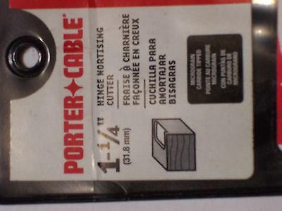 "Porter- Cable 1-1/4"" Hinge Mortising Cutter New In Package"