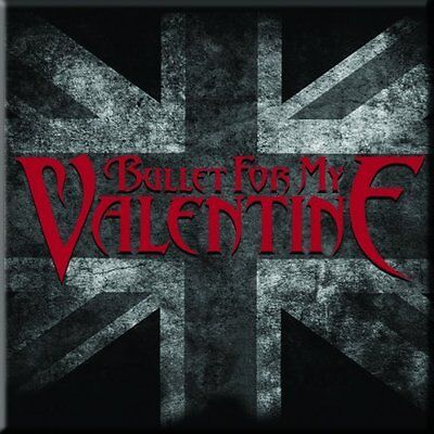 "BULLET FOR MY VALENTINE UK Flag fridge magnet 3"" square metal gift free UK P&P"