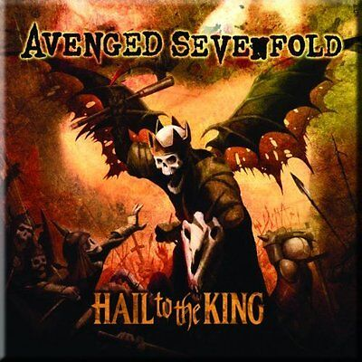 "AVENGED SEVENFOLD Hail To The King  fridge magnet 3"" sqr metal gift free UK P&P"