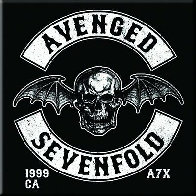 "AVENGED SEVENFOLD Deathbat  fridge magnet 3"" square metal gift free UK P&P"