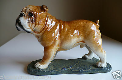 ENGLISH BULLDOG POLYRESIN DOG STATUE DOGS FIGURINE PUPPY 7.5 in. CANINE STANDING