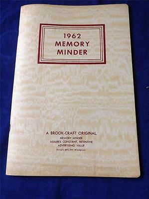 1962 Memory Minder Vintage Calendar Salesman Sample Brook-Craft Canada