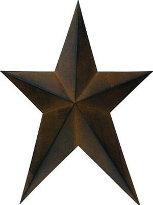 "12"" long by 9"" wide Rust Black Metal BARN STAR--Elongated #U5358"