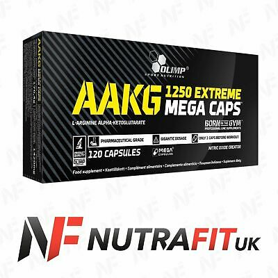 OLIMP AAKG 1250 EXTREME MEGA CAPS nitric oxide booster 120 capsules