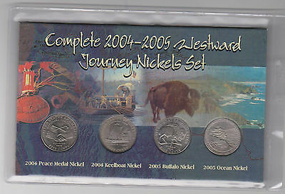 USA United States America Complete 2004 2005 WESTWARD JOURNEY Nickel Set 5 Cent