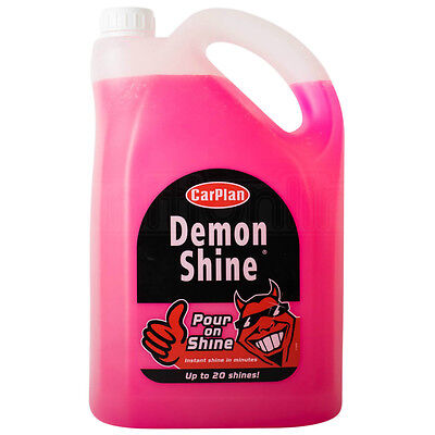 CarPlan Demon Shine Pour On Shine Car Wax Cleaning Polish No Effort 5 Litre