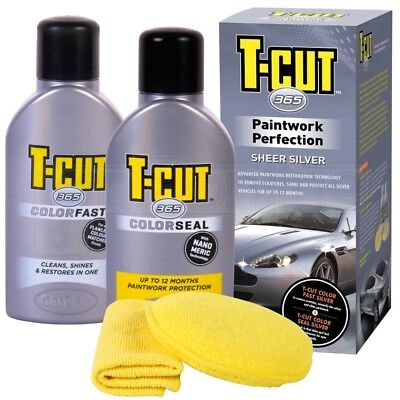 T Cut 365 Paintwork Kit Car Polish Silver Wax Color Restorer Scratch Remover
