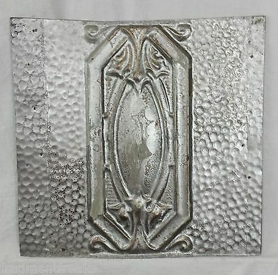 "12"" x 12.5"" Antique Tin Ceiling Tile * Chic Silver Sg15"