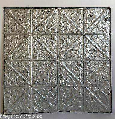 "24"" x 24"" Antique Tin Ceiling Tile *SEE OUR VIDEOS* Silver Torches B66a"