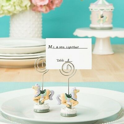 40 Carousel Horse Place card- Photo Holder Baby Shower Favors
