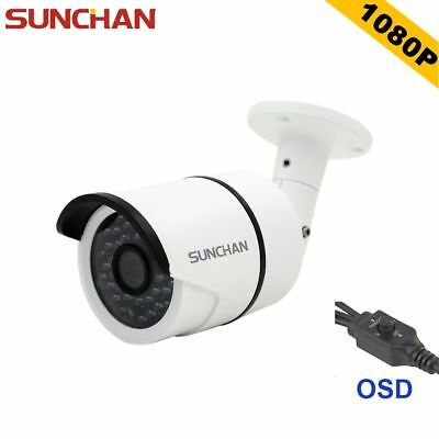 SUNCHAN 2.0Megapixel Waterproof IR 1080P AHD Outdoor CCTV Home Security Camera