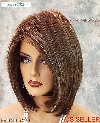 """Hailey"" Rene Of Paris Noriko Wig  *Chocolate Frost  R *New In Box With Tags 564"