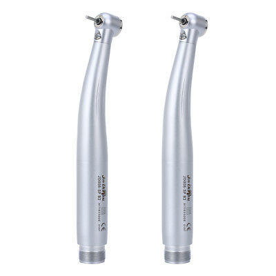 UK 2x Dental E-generator LED High Speed Handpiece Push Button Bearings 2 Holes